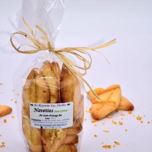 Navettes aux zestes d'orange bio et sans Gluten